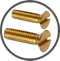 Brass CSK Flat Head Screws