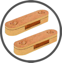 Brass DC Clamps Tape Clips
