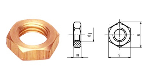 Brass DIN 439 Lock Nuts