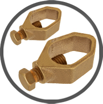 Brass Earth Clamps Grounding Rod Clamps