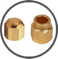 Brass Flare Cap Nuts
