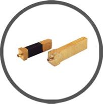 Brass Plug Pins Flat