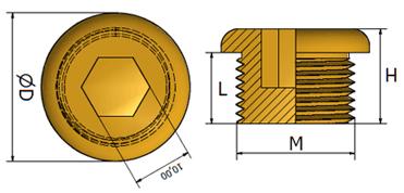 Brass Stop Plugs