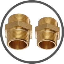Hexagonal Brass Reducers & Stop Plugs