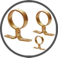 Pressed Brass Pipe Clip